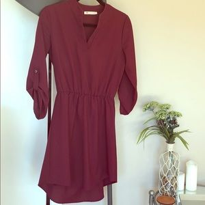 Maroon dress from Houston boutique